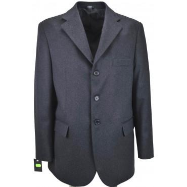 Men's Jacket 52 XL Black Pure Cashmere Classic 3Buttons - White