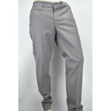 Pantaloni Uomo Slim Casual Tasche Laterali Piccoli Motivi Cotone - PE
