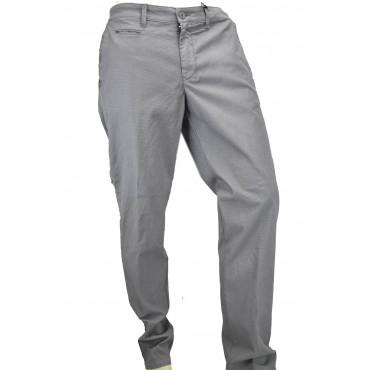 Pantalones de los Hombres Casual Slim Bolsillos Laterales Pequeños Patrones de Algodón - PE