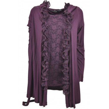 TwinSet Women's Lace and Gale L Bordeaux - Pierre Cardin