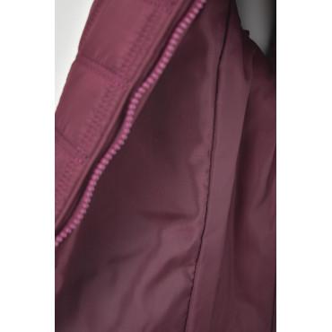 Short Jacket Shawl Woman Bordeaux