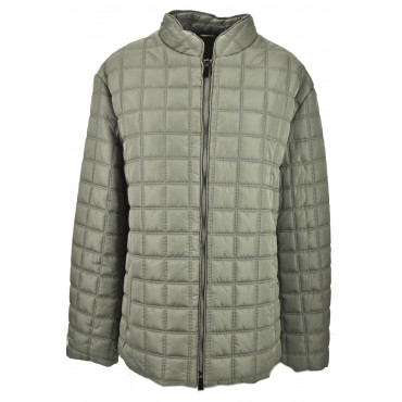 Quilted Jacket Woman-Calibrated Large Size Red-Burgundy Waterproof - IKSask
