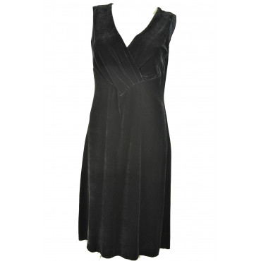 Women's Black Velvet Sheath Dress