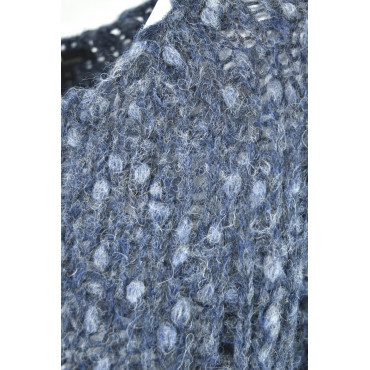 Shirt Woman Boat Neck Boucle Alpaca