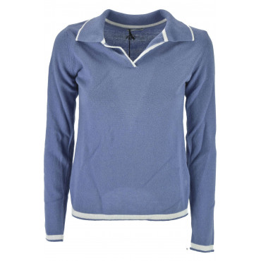 Sweater Woman Polo Cashmere 2Fili - Dry Fit