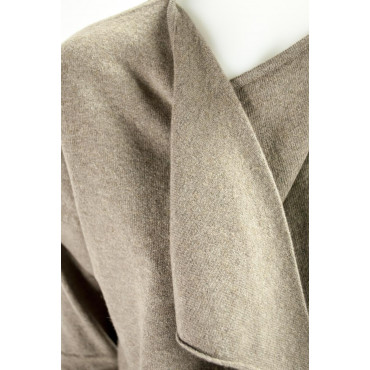 Cardigan Open Women's XL Dark Gray Cashmere 2Fili