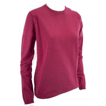 Camiseta de cuello redondo camiseta de Mujer de Luz Azul de Cachemira 2Fili - Ajuste Cómodo