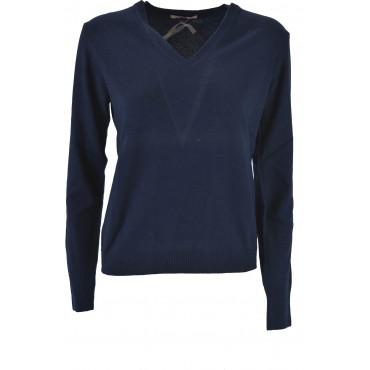 Mesh ScolloV Sport Woman Wool Cashmere 2Fili - Straight Pattern