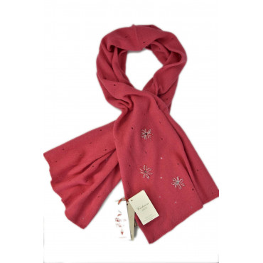 Scarf Women's Pure Cashmere with Hand Embroidery - 140 x 40