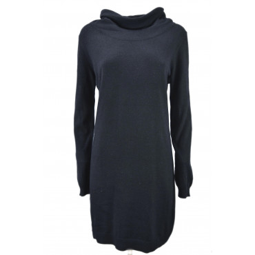 Dress ladies Knit Neck Ring Patches on the elbows