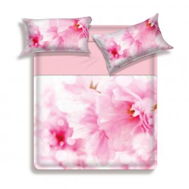 "Quilt "" Pink Floral Large Flowers microfiber - Biancaluna"