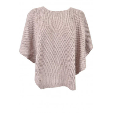 Cloak Poncho Women's Sequins Pink Mohair Wool