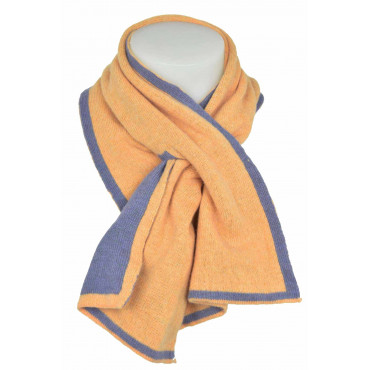 Scarf Neck warmer Face mix Cashmere Yellow/Lilac' - Clothing Woman