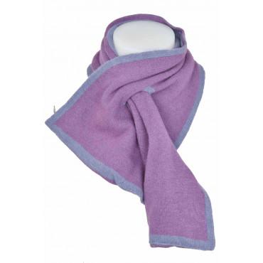 Bufanda Cuello caliente Cara de la mezcla de Cachemir de color Amarillo/Lila' - Ropa de Mujer