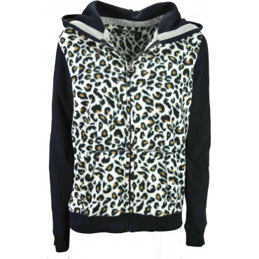 Sweatshirt Fleece Leopard hoodies Juventus