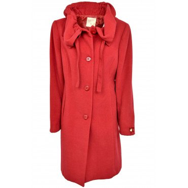 The Long coat Woman 50 XXL Red-Neck Ruffles Georgia & Johns