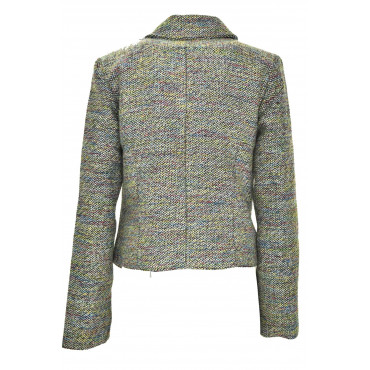 Jacket Nail Woman Boucle Woolen Cloth Multicolor - LTB