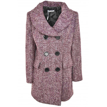Jacket Women Double-Breasted Cloth, Wool Bouclé