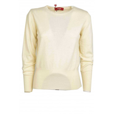 Mesh ladies crew neck with Waistband at the waist - close Fit