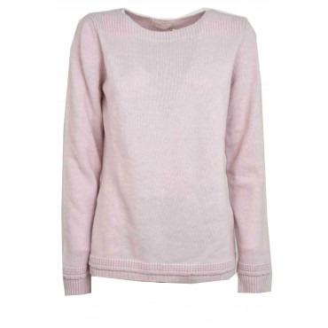 Shirt Woman Boat Neck Light Pink