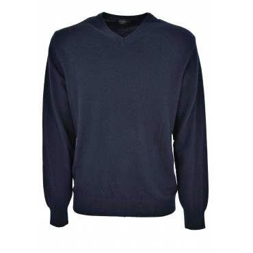 Mens Pullover ScolloV Classic Cashmere Wool Fine Mesh 2 Wires