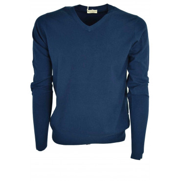 Jersey Man ScolloV Patches Cashmere Wool