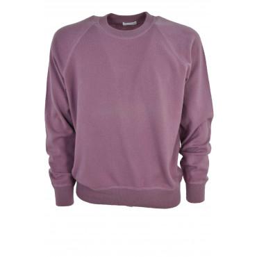 Sweaters, Pure Cashmere Men crew neck 50 L Dark Pink Raglan 2Fili