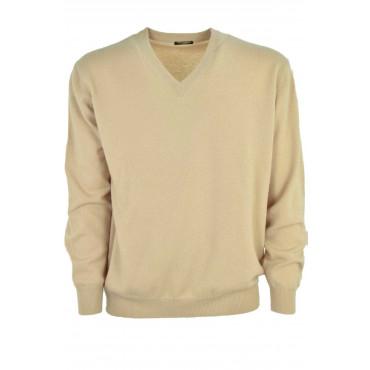 Mens Pullover ScolloV - Pure Cashmere Classic 2Fili