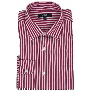 Man Shirt Wide Stripe Red White Neck French