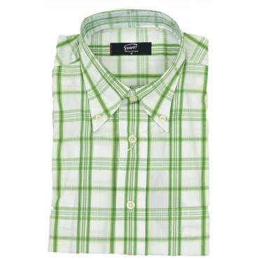 Man Shirt ButtonDown Green...