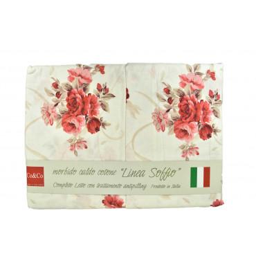 Completo Lenzuola Flanella Floreale - Linea Soffio Co&Co