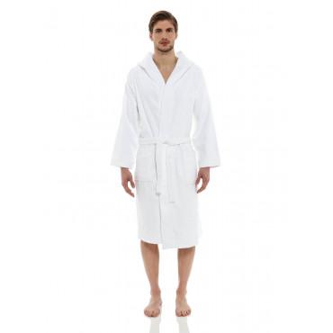 Bathrobe White Terrycloth Heavy Luxury