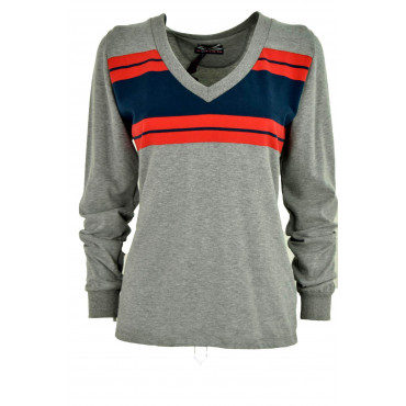 T-shirt Woman V-Neck Gray...