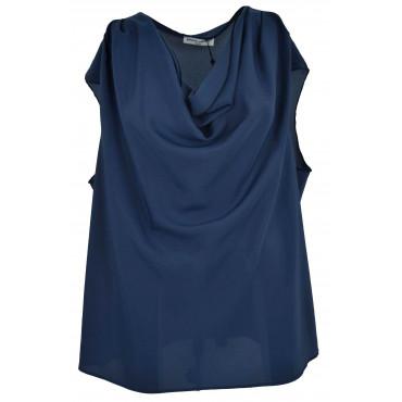 Blouse Woman Big Size Blue...