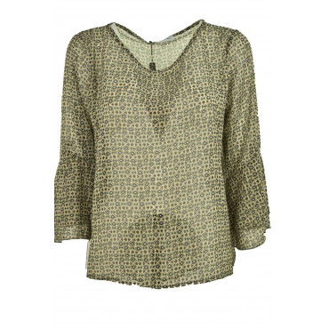 Blouse Women's Green Voile,...