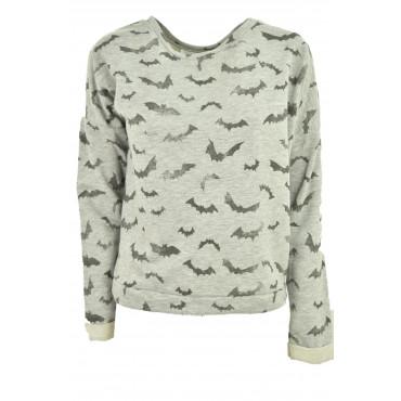 Sweatshirt Girls Bats Gray...