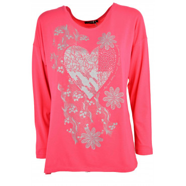 Jersey Woman Coral Pink...