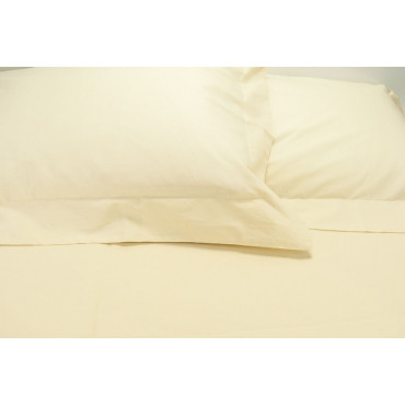 Sheets Double Cotton Eco-friendly Pidocchino Beige 250x290 Under the Corners 170x200 7450