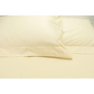 Sheets Double Cotton Eco-friendly Pidocchino Beige 250x290 Under the Corners 170x200 7450