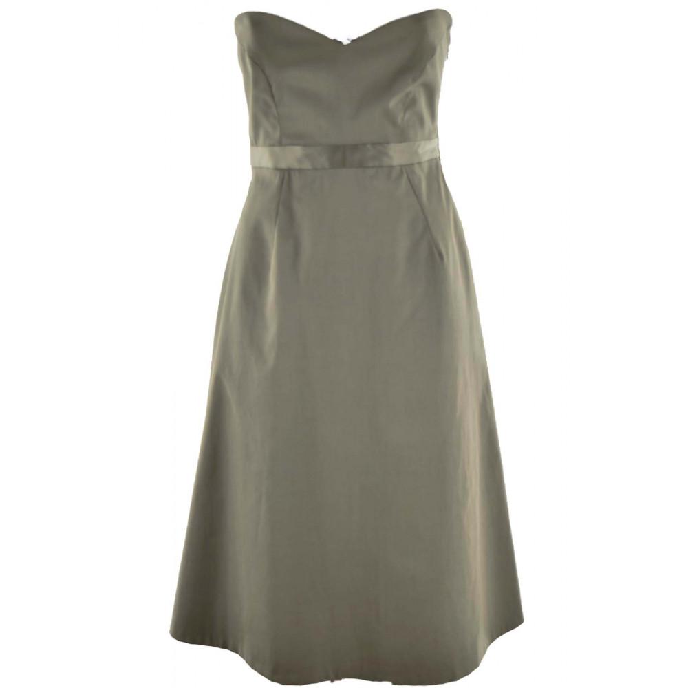 Kleid Damen Tortora Trägerlos Elegant Baumwolle - kleine mängel leiter lager