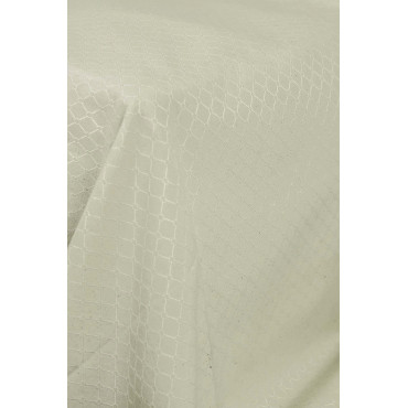 Tablecloth Canvas Montepulciano Jaquard Ivory Diamond