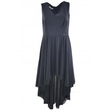 Woman Black Dress Elegant...