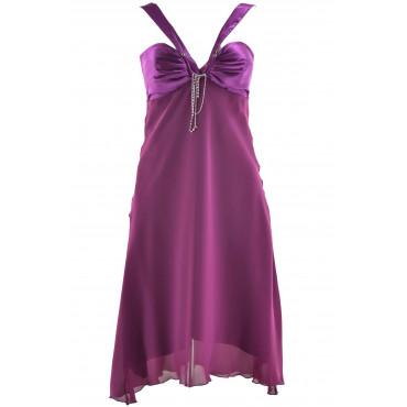 Fuchsia Woman Dress with...