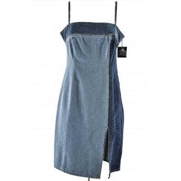 Patchwork Jeans Woman Dress...