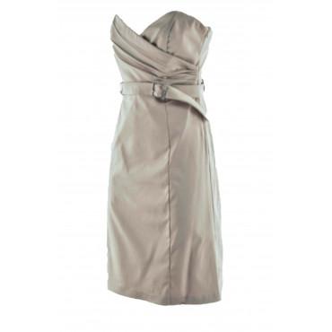 Elegant Woman Dress Beige...