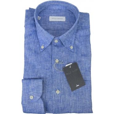 Man shirt Linen blend Button Down collar - Philo Vance - Cuba