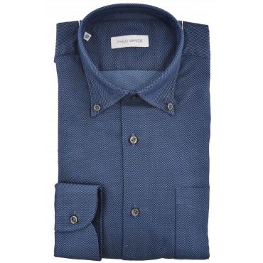 Man Shirt Button-Down Woven Needle - Philo Vance - Laveno