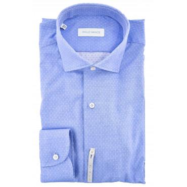 El hombre del Cuello de la camisa Slimfitt Pequeños lunares - Philo Vance - Metz Slim