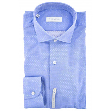 Man shirt Collar Slimfitt Small polka Dots - Philo Vance - Metz Slim