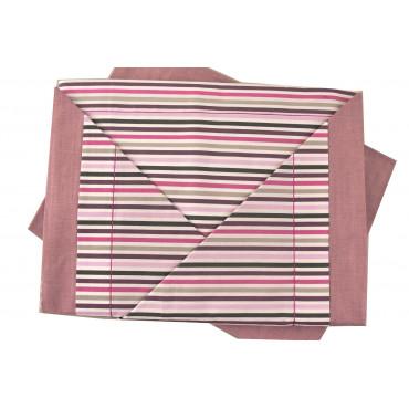 Pleine de lit, Draps de Lit Multicolore Rayures-dessous avec les coins de la Piazza Pitti